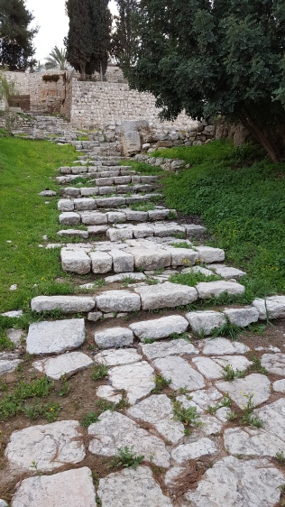 Ancient street steps